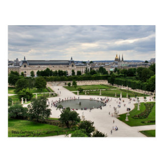 Postal de Les Tuileries jardines
