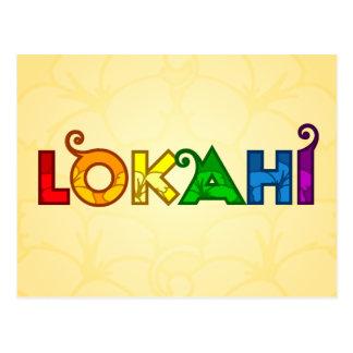 Postal de Lokahi del arco iris