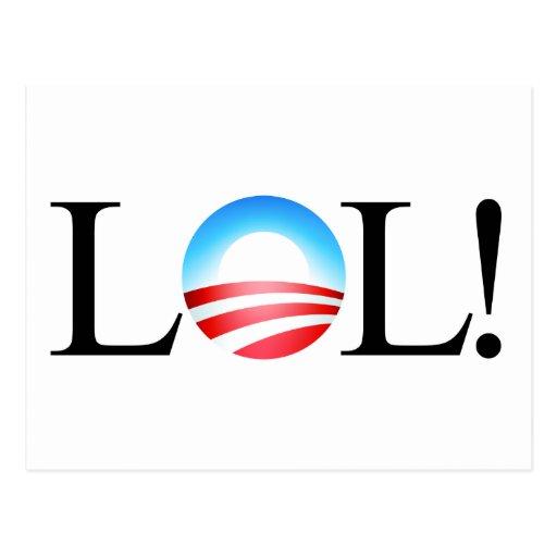 Postal de LOL Obama