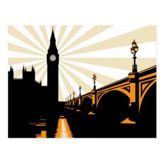 Postal de Londres del art déco