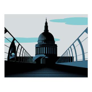 Postal de Londres del estilo del art déco