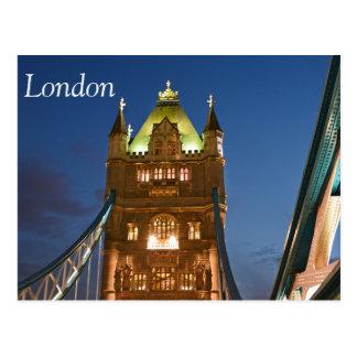 Postal de Londres del puente de la torre