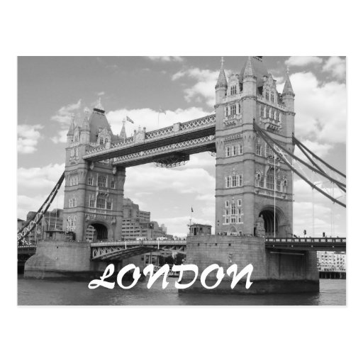 Postal de Londres del vintage del puente de la tor