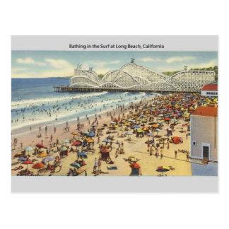 Postal de Long Beach California del vintage