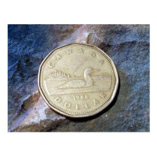 Postal de Loonie de 1988 canadienses