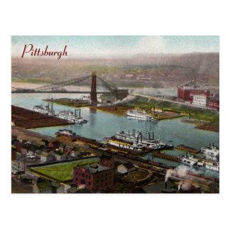 Postal de los 1800s de Pittsburgh del vintage