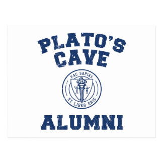 Postal de los alumnos de la cueva de Platón