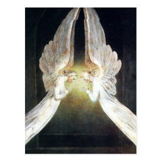 Postal de los ángeles de Guillermo Blake