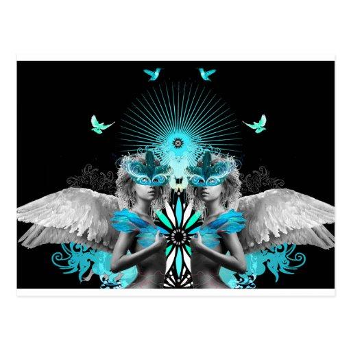 Postal de los ángeles de Morphic