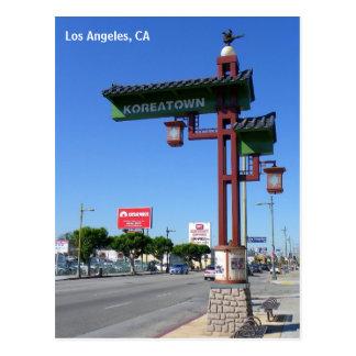 ¡Postal de Los Ángeles Koreatown! Tarjeta Postal