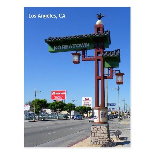 ¡Postal de Los Ángeles Koreatown!