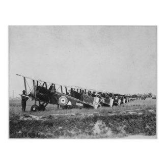 Postal de los aviones de WWI
