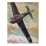 Postal de los aviones del vintage