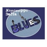 Postal de los azules del delta de Mississippi