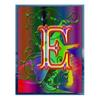 Postal de los bailarines del alfabeto de la letra