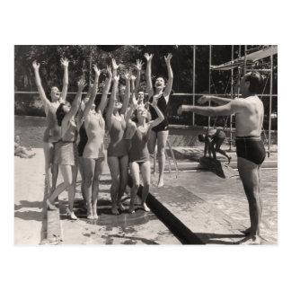 Postal de los bañadores del vintage - 1766908-4