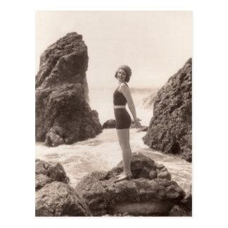 Postal de los bañadores del vintage - 1766993-4