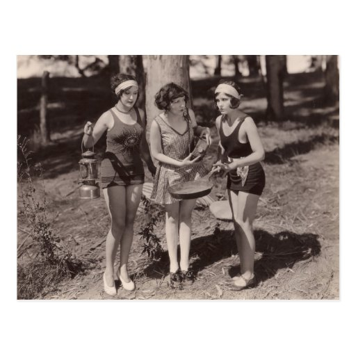 Postal de los bañadores del vintage - 1780242-4