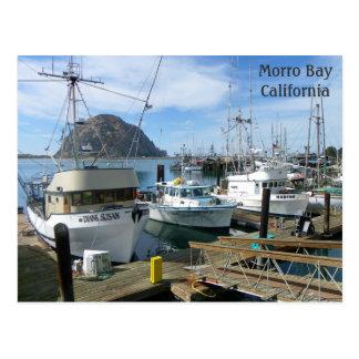 ¡Postal de los barcos de pesca de la bahía de Tarjeta Postal