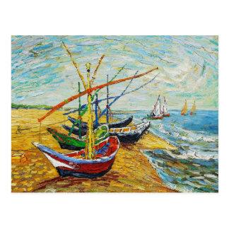 Postal de los barcos de pesca de Van Gogh