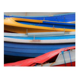 Postal de los barcos de Rowing