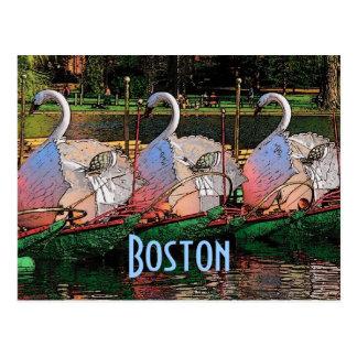 Postal de los barcos del cisne