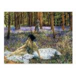 Postal de los Bluebells de Lorenzo Alma Tadema