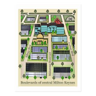 Postal de los bulevares de Milton Keynes