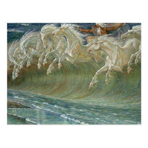 Postal de los caballos de Neptunes