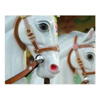 Postal de los caballos del carrusel