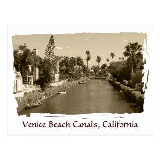 ¡Postal de los canales de la playa de Venecia del  Postales