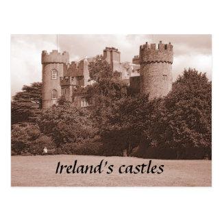 Postal de los castillos de Irlanda