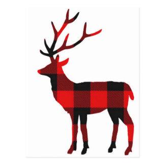 Postal de los ciervos el | de la tela escocesa del