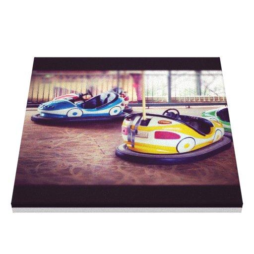 Postal de los coches del coche de parachoques 2 de lienzo envuelto para galerías