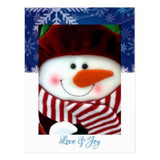 Postal de los copos de nieve de la alegría del amo