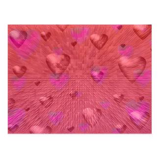 Postal de los corazones de la tarjeta del día de S