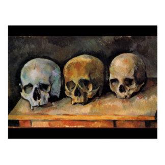 Postal de los cráneos de Paul Cézanne