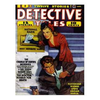 """Postal de los """"cuentos detectives"""""""