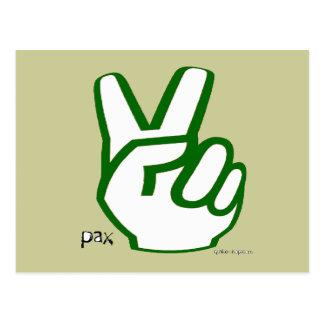 Postal de los dedos de la paz