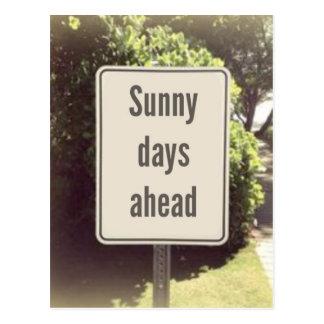 Postal de los días soleados