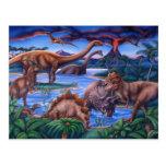 Postal de los dinosaurios