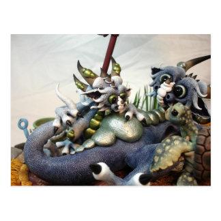 Postal de los dragones de la playa del MD (primer)