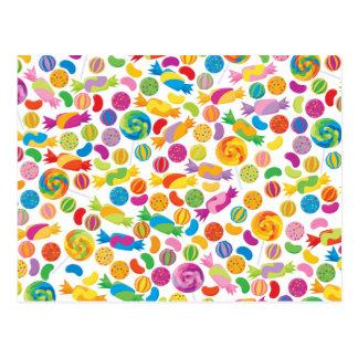 Postal de los dulces del caramelo