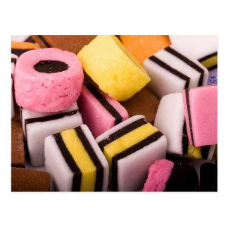 Postal de los dulces del regaliz