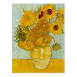 Postal de los girasoles de Vincent van Gogh