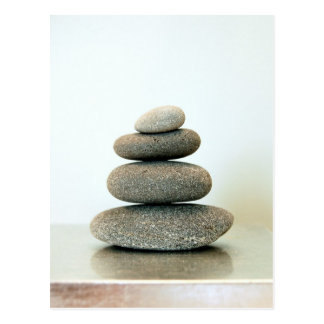 Postal de los guijarros del zen