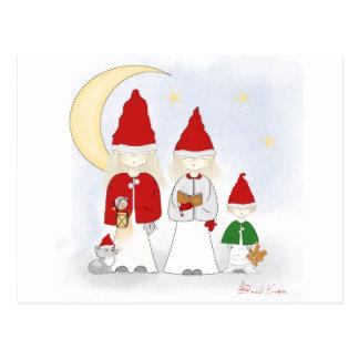 Postal de los hermanos del navidad