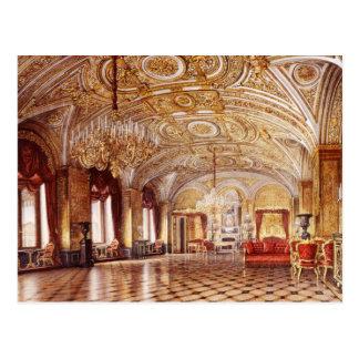 Postal de los interiores del palacio del invierno