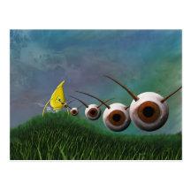 Postal de los invasores del ojo