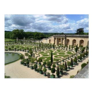 Postal de los jardines de Versalles Orangerie Fran